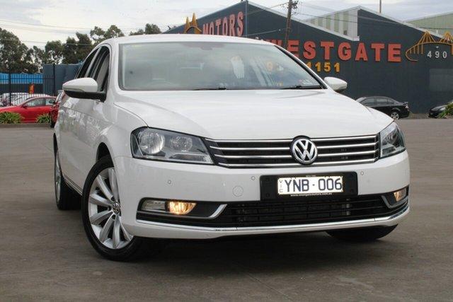 Used Volkswagen Passat 3C MY11 118 TSI West Footscray, 2011 Volkswagen Passat 3C MY11 118 TSI White 7 Speed Auto Direct Shift Sedan
