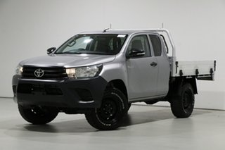 2016 Toyota Hilux GUN125R Workmate (4x4) Grey 6 Speed Manual X Cab Cab Chassis.