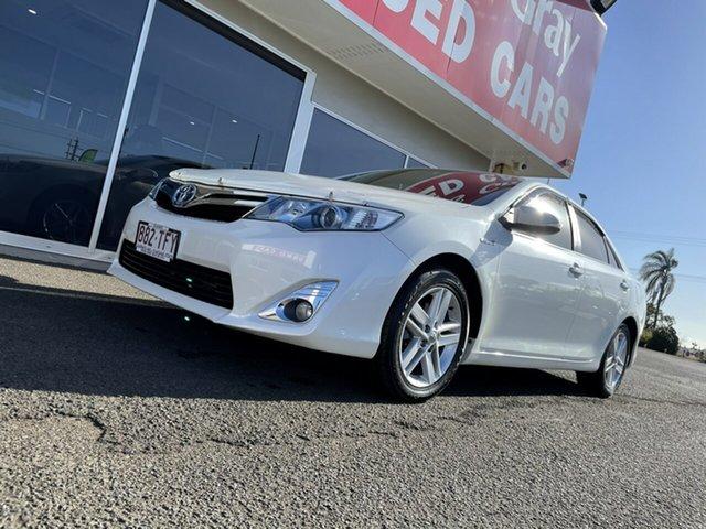 Used Toyota Camry AVV50R Hybrid H Bundaberg, 2013 Toyota Camry AVV50R Hybrid H White 1 Speed Constant Variable Sedan Hybrid
