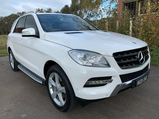 Used Mercedes-Benz M-Class W166 Geelong, 2014 Mercedes-Benz M-Class W166 ML250 BlueTEC White Sports Automatic Wagon