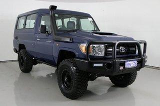 2021 Toyota Landcruiser 70 Series VDJ78R Workmate Troop Carrier Blue 5 Speed Manual Wagon.
