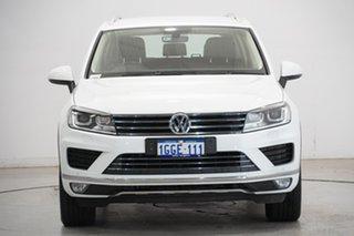 2017 Volkswagen Touareg 7P MY17 150TDI Tiptronic 4MOTION Pure White 8 Speed Sports Automatic Wagon.