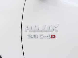 2020 Toyota Hilux GUN126R MY19 Upgrade SR (4x4) White 6 Speed Manual Double Cab Chassis