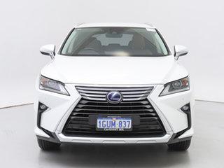 2019 Lexus RX450H GYL25R Luxury Hybrid White Continuous Variable Wagon.