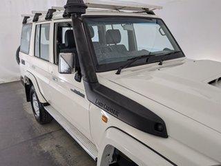 2018 Toyota Landcruiser VDJ76R GXL White 5 Speed Manual Wagon.