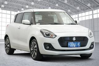 2019 Suzuki Swift AZ GLX Turbo White 6 Speed Sports Automatic Hatchback.