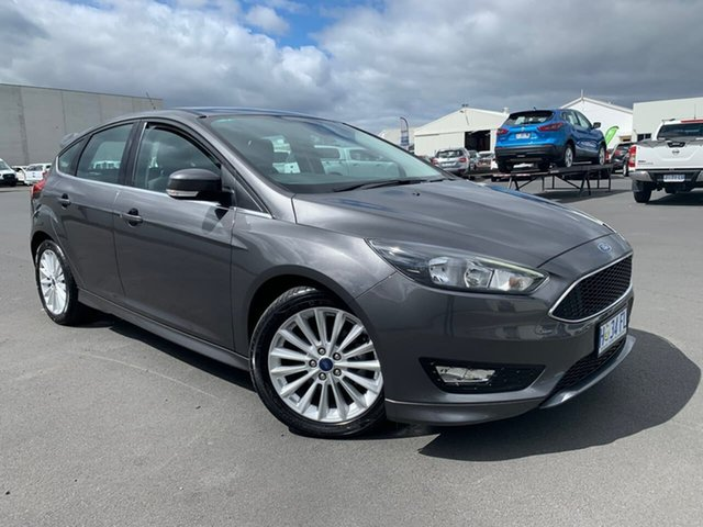 Used Ford Focus LZ Sport Hobart, 2017 Ford Focus LZ Sport Grey 6 Speed Automatic Hatchback