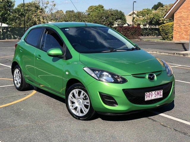 Used Mazda 2 DE10Y2 MY12 Neo Chermside, 2012 Mazda 2 DE10Y2 MY12 Neo Green 5 Speed Manual Hatchback