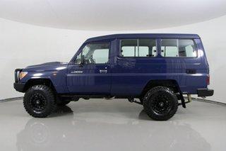 2021 Toyota Landcruiser 70 Series VDJ78R Workmate Troop Carrier Blue 5 Speed Manual Wagon