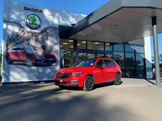 2021 Skoda Kamiq NW MY21 110TSI DSG FWD Monte Carlo Red 7 Speed Sports Automatic Dual Clutch Wagon.