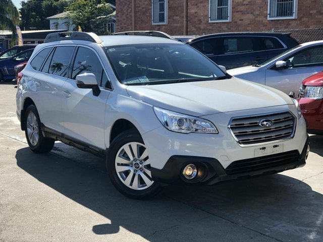Used Subaru Outback B6A MY17 2.0D CVT AWD Chermside, 2017 Subaru Outback B6A MY17 2.0D CVT AWD White 7 Speed Constant Variable Wagon