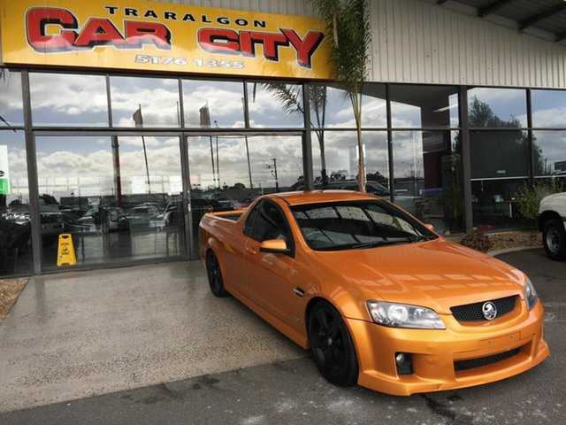 Used Holden Commodore VE II SV6 Traralgon, 2010 Holden Commodore VE II SV6 Orange 6 Speed Manual Utility