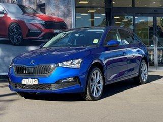 2021 Skoda Scala NW MY21 110TSI DSG Blue 7 Speed Sports Automatic Dual Clutch Hatchback.
