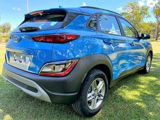 2021 Hyundai Kona Os.v4 MY21 2WD Surfy Blue 8 Speed Constant Variable Wagon.