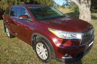 2015 Toyota Kluger GSU50R GX 2WD Red 6 Speed Sports Automatic Wagon.
