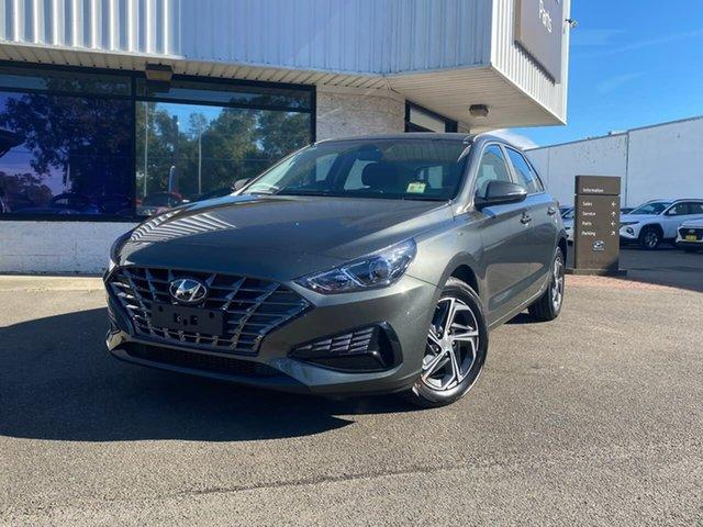 New Hyundai i30 PD.V4 MY21 Penrith, 2021 Hyundai i30 PD.V4 MY21 Amazon Gray 6 Speed Manual Hatchback