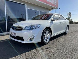 2013 Toyota Camry AVV50R Hybrid H White 1 Speed Constant Variable Sedan Hybrid