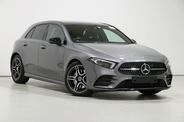 Used Mercedes-Benz A250 177 MY19 4Matic AMG Line Bentley, 2018 Mercedes-Benz A250 177 MY19 4Matic AMG Line Mountain Grey 7 Speed Auto Dual Clutch Hatchback