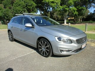 2016 Volvo V60 F Series MY17 D4 Geartronic Luxury Silver 8 Speed Sports Automatic Wagon.