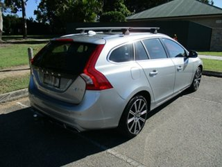 2016 Volvo V60 F Series MY17 D4 Geartronic Luxury Silver 8 Speed Sports Automatic Wagon