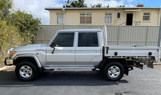 2019 Toyota Landcruiser VDJ79R GXL Double Cab Silver 5 Speed Manual Cab Chassis