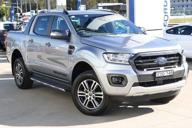 Used Ford Ranger PX MkIII 2020.25MY Wildtrak West Gosford, 2020 Ford Ranger PX MkIII 2020.25MY Wildtrak Silver 10 Speed Sports Automatic Double Cab Pick Up