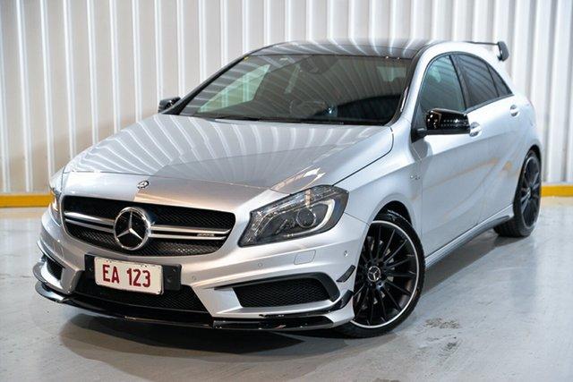 Used Mercedes-Benz A-Class W176 A45 AMG SPEEDSHIFT DCT 4MATIC Hendra, 2014 Mercedes-Benz A-Class W176 A45 AMG SPEEDSHIFT DCT 4MATIC Silver 7 Speed