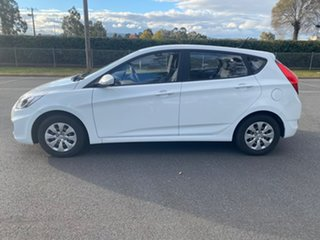 2016 Hyundai Accent RB4 Active White Manual Hatchback