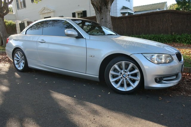 Used BMW 3 Series E93 MY10 320d Steptronic Prospect, 2010 BMW 3 Series E93 MY10 320d Steptronic Silver 6 Speed Sports Automatic Convertible