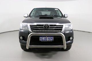 2013 Toyota Hilux KUN26R MY12 SR5 (4x4) Black 5 Speed Manual Dual Cab Pick-up.