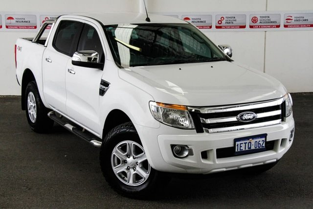 Pre-Owned Ford Ranger PX XLT 3.2 (4x4) Rockingham, 2015 Ford Ranger PX XLT 3.2 (4x4) White 6 Speed Automatic Double Cab Pick Up