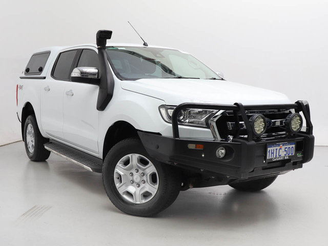 Used Ford Ranger PX MkII MY17 XLT 3.2 (4x4), 2017 Ford Ranger PX MkII MY17 XLT 3.2 (4x4) White 6 Speed Automatic Double Cab Pick Up