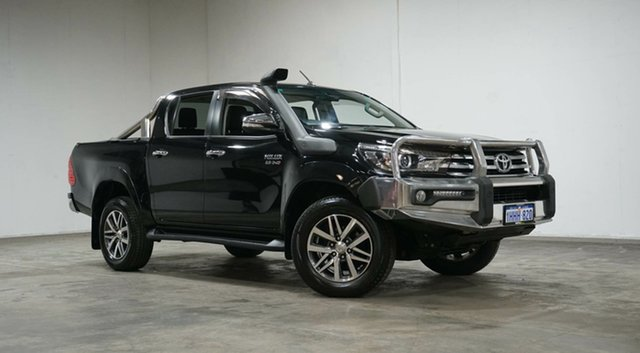 Used Toyota Hilux GUN126R SR5 Double Cab Welshpool, 2017 Toyota Hilux GUN126R SR5 Double Cab Black 6 Speed Sports Automatic Utility