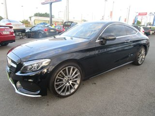 2018 Mercedes-Benz C-Class C205 808MY C300 9G-Tronic Black 9 Speed Sports Automatic Coupe.
