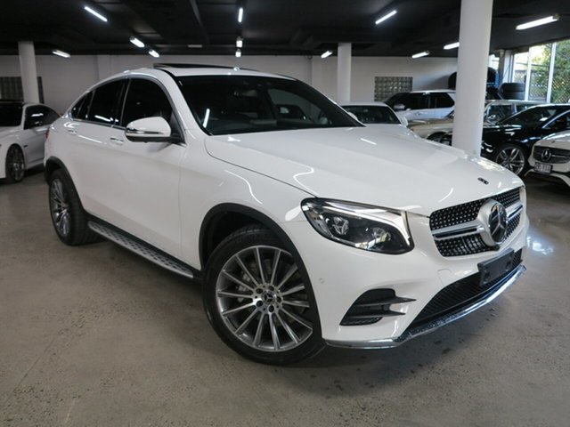 Used Mercedes-Benz GLC-Class C253 GLC250 d Coupe 9G-Tronic 4MATIC Albion, 2017 Mercedes-Benz GLC-Class C253 GLC250 d Coupe 9G-Tronic 4MATIC White 9 Speed Sports Automatic