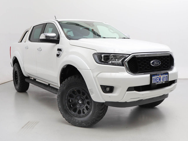 Used Ford Ranger PX MkIII MY21.25 XLT 3.2 (4x4), 2020 Ford Ranger PX MkIII MY21.25 XLT 3.2 (4x4) White 6 Speed Automatic Double Cab Chassis
