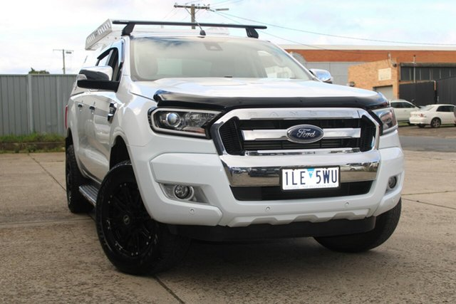 Used Ford Ranger PX MkII MY17 XLT 3.2 (4x4) West Footscray, 2017 Ford Ranger PX MkII MY17 XLT 3.2 (4x4) White 6 Speed Manual Dual Cab Utility