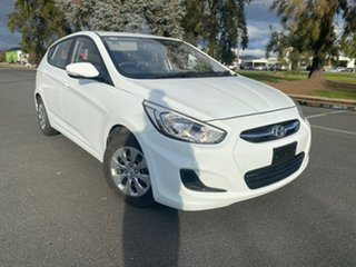 2016 Hyundai Accent RB4 Active White Manual Hatchback.