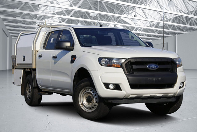 Used Ford Ranger PX MkII XL 2.2 Hi-Rider (4x2) Eagle Farm, 2016 Ford Ranger PX MkII XL 2.2 Hi-Rider (4x2) White 6 Speed Automatic Crew Cab Chassis