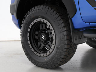 2017 Toyota Hilux GUN125R MY17 Workmate (4x4) Blue 6 Speed Automatic Dual Cab Chassis