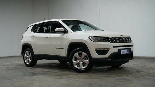 Used Jeep Compass M6 MY18 Sport FWD Welshpool, 2017 Jeep Compass M6 MY18 Sport FWD Vocal White 6 Speed Automatic Wagon