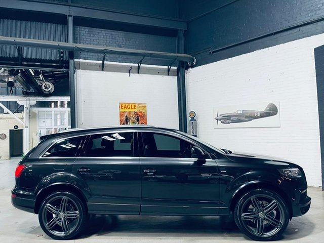 Used Audi Q7 MY12 TDI Tiptronic Quattro Port Melbourne, 2011 Audi Q7 MY12 TDI Tiptronic Quattro Black 8 Speed Sports Automatic Wagon