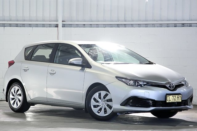 Used Toyota Corolla ZRE182R Ascent S-CVT West Gosford, 2017 Toyota Corolla ZRE182R Ascent S-CVT Silver 7 Speed Constant Variable Hatchback
