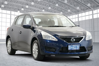 2016 Nissan Pulsar C12 Series 2 ST Ink Blue 1 Speed Constant Variable Hatchback.