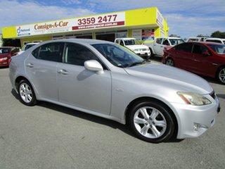 2006 Lexus IS GSE20R IS250 Prestige Silver 6 Speed Sports Automatic Sedan.