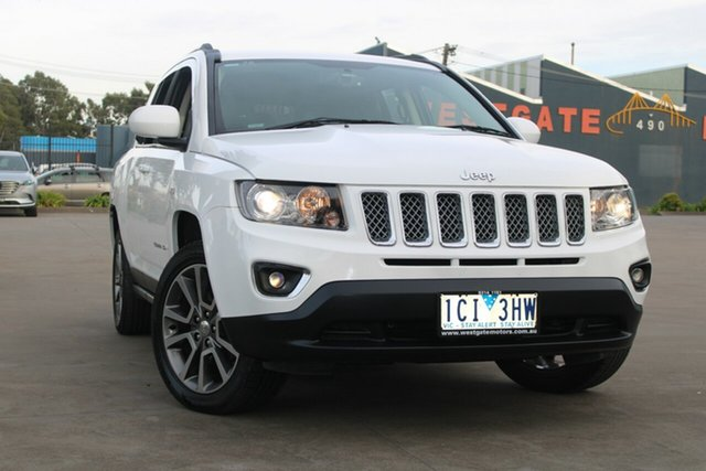 Used Jeep Compass MK MY14 Limited (4x4) West Footscray, 2013 Jeep Compass MK MY14 Limited (4x4) White 6 Speed Automatic Wagon
