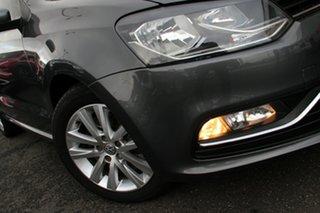 2015 Volkswagen Polo 6R MY15 81TSI Comfortline Grey 6 Speed Manual Hatchback.