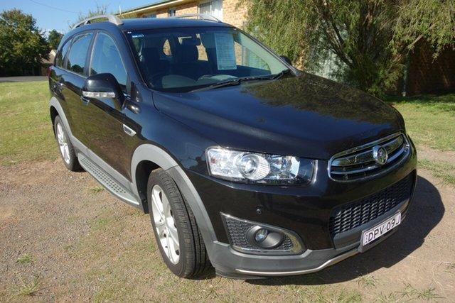 Used Holden Captiva CG MY14 5 AWD LTZ East Maitland, 2014 Holden Captiva CG MY14 5 AWD LTZ Black 6 Speed Sports Automatic Wagon
