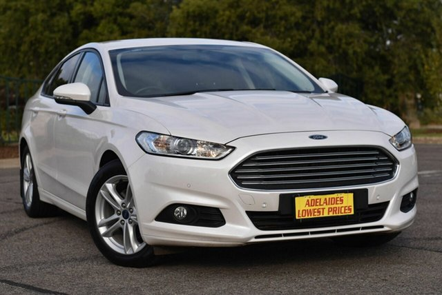 Used Ford Mondeo MD 2018.25MY Ambiente Morphett Vale, 2018 Ford Mondeo MD 2018.25MY Ambiente White 6 Speed Sports Automatic Hatchback