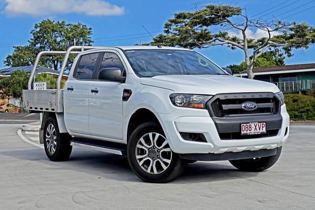 Used Ford Ranger PX MkII XL Capalaba, 2017 Ford Ranger PX MkII XL Cool White 6 Speed Sports Automatic Cab Chassis